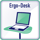 Ergoriser variable height desk